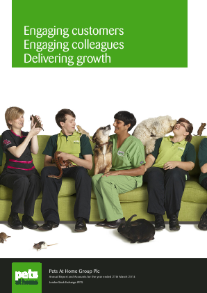 Pets At Home Group Plc annual report 2014