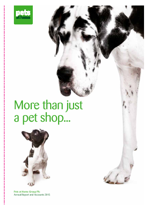 Pets At Home Group Plc annual report 2015