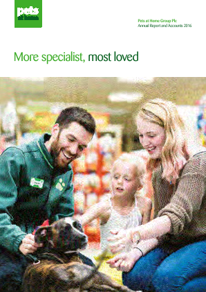 Pets At Home Group Plc annual report 2016