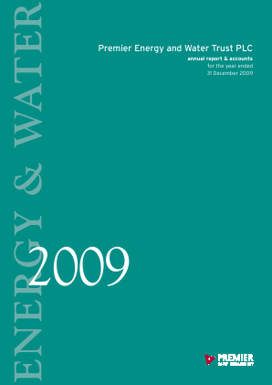 Premier Energy & Water Trust Plc annual report 2009