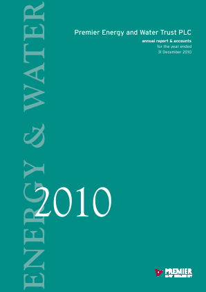 Premier Energy & Water Trust Plc annual report 2010