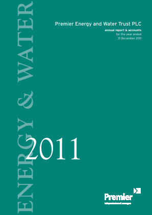 Premier Energy & Water Trust Plc annual report 2011