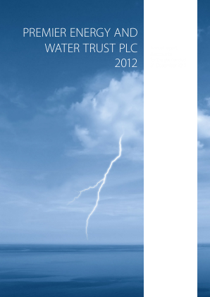 Premier Energy & Water Trust Plc annual report 2012