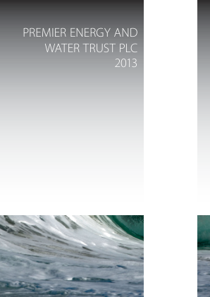 Premier Energy & Water Trust Plc annual report 2013