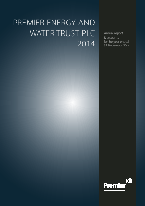 Premier Energy & Water Trust Plc annual report 2014