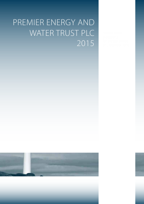 Premier Energy & Water Trust Plc annual report 2015