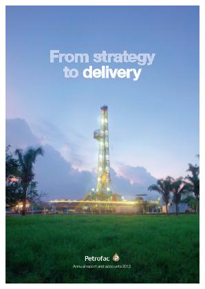 Petrofac annual report 2012