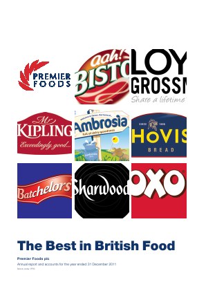 Premier Foods Plc annual report 2011
