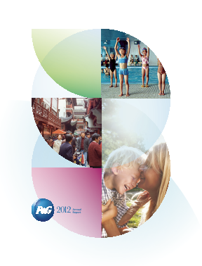 Procter & Gamble annual report 2012