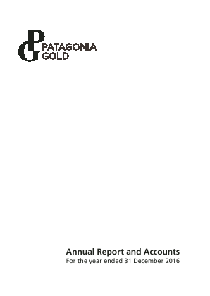 Patagonia Gold annual report 2016