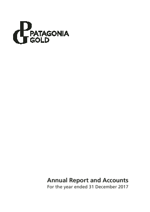 Patagonia Gold annual report 2017