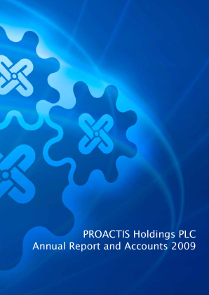 Proactis Holdings annual report 2009