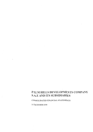 Palm Hills Developments SAE annual report 2008
