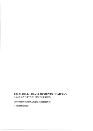 Palm Hills Developments SAE annual report 2009