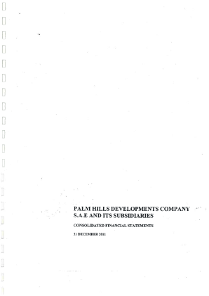 Palm Hills Developments SAE annual report 2011