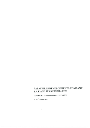 Palm Hills Developments SAE annual report 2012