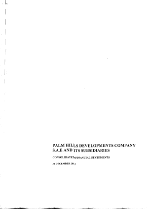 Palm Hills Developments SAE annual report 2013