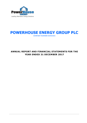 Powerhouse Energy Group Plc annual report 2017