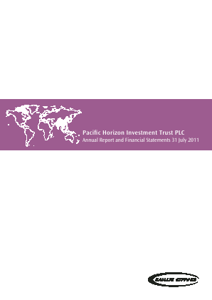 Pacific Horizon Investment Trust annual report 2011