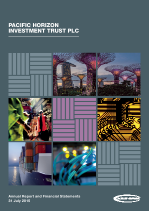 Pacific Horizon Investment Trust annual report 2015