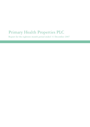 Primary Health Properties annual report 2007