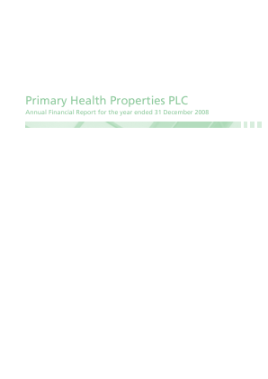 Primary Health Properties annual report 2008