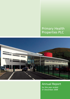Primary Health Properties annual report 2009