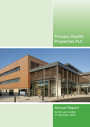 Primary Health Properties annual report 2010