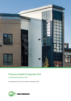 Primary Health Properties annual report 2012