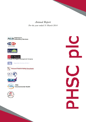 PHSC annual report 2014