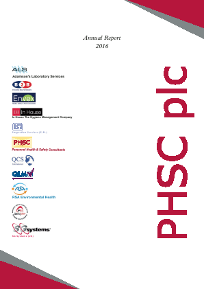 PHSC annual report 2016