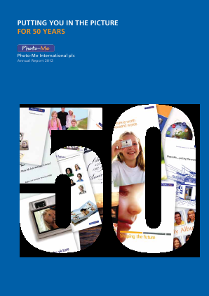 Photo-Me International annual report 2012