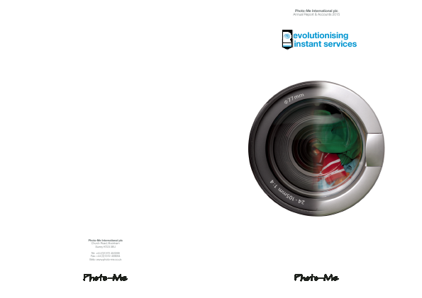Photo-Me International annual report 2015