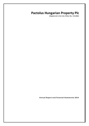 M&L Property & Assets Plc annual report 2014