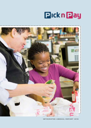 Pick N Pay Stores annual report 2016