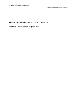 Produce Investments Plc annual report 2014