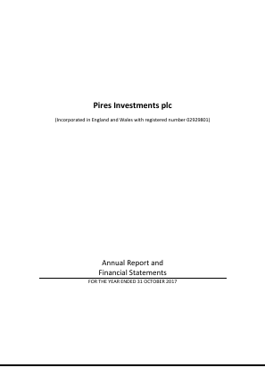Pires Investments Plc annual report 2017