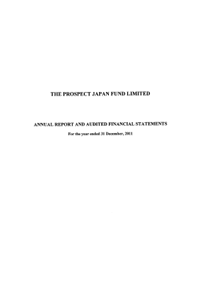 Prospect Japan Fund annual report 2011