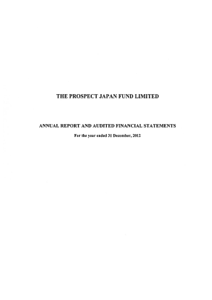 Prospect Japan Fund annual report 2012