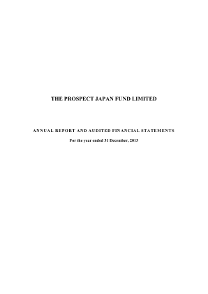 Prospect Japan Fund annual report 2013