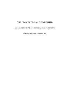 Prospect Japan Fund annual report 2014