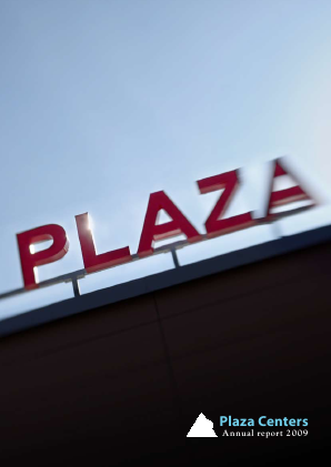 Plaza Centers NV annual report 2009