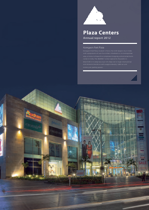 Plaza Centers NV annual report 2012
