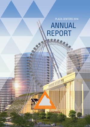 Plaza Centers NV annual report 2014