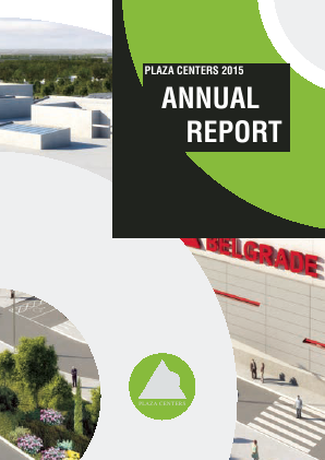Plaza Centers NV annual report 2015