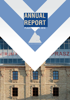 Plaza Centers NV annual report 2016