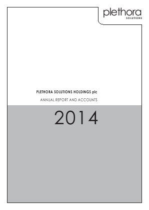 Plethora Solutions Holdings annual report 2014