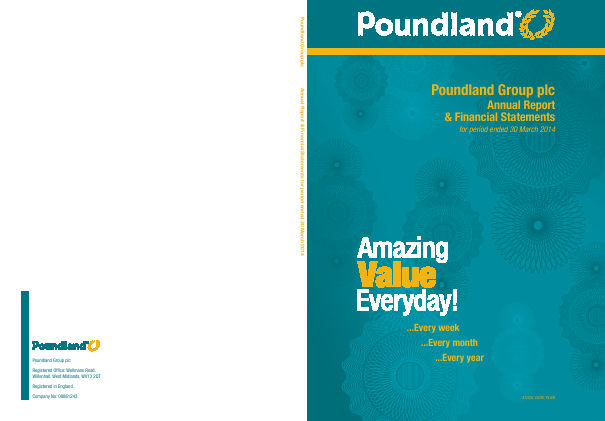 Poundland Group Plc annual report 2014