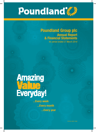 Poundland Group Plc annual report 2016