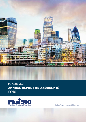 Plus500 annual report 2016
